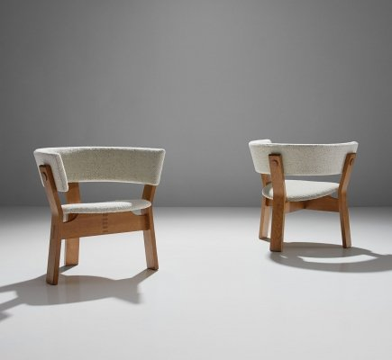 Pair of Oak Armchairs by Steen Østergaard, Denmark 1962
