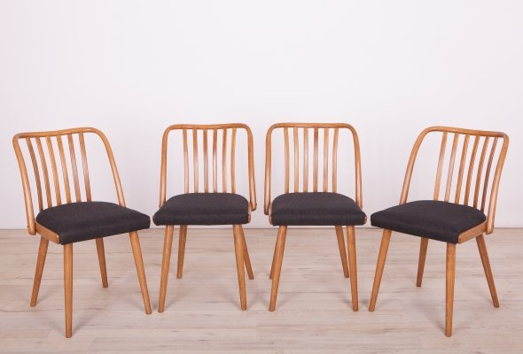 Set of 4 Dining Chairs by Antonin Suman for Ton, 1960s