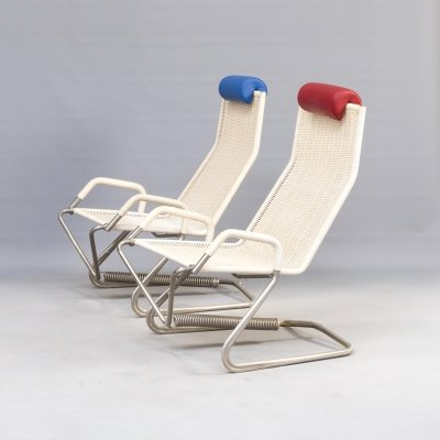 Pair of Tecta D36 'floating' lounge chairs by Jean Prouvé, 1990's
