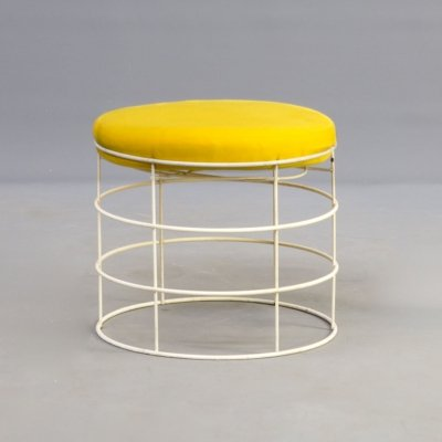 60s Verner Panton 'T1' wire stool for Plus Linje