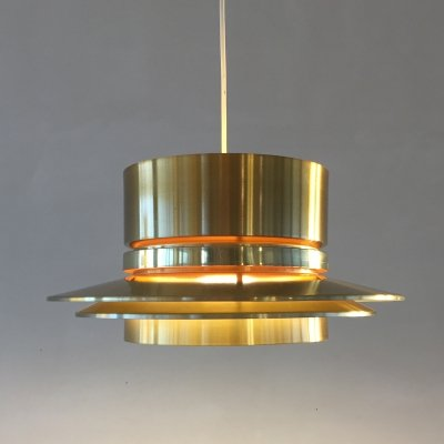 Brass hanging lamp by Carl Thore for Granhaga, 1960s