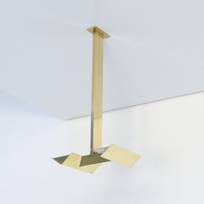 Brass Ceiling Lamp by Paul Gillis for Light