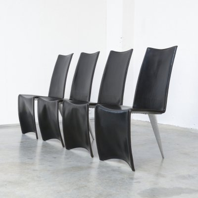 Set of 4 Ed Archer Chairs by Philippe Starck for Aleph