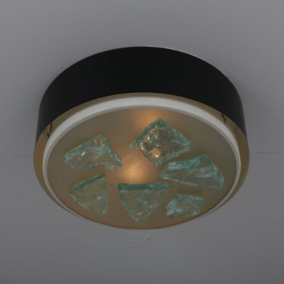 Model R-28/P Ceiling lamp with glass by Raak, the Netherlands 1950s