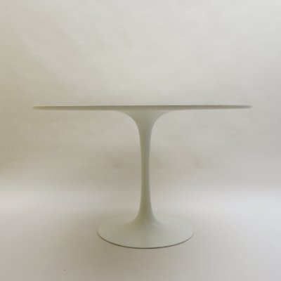 1960s White Tulip Dining Table by Maurice Burke for Arkana
