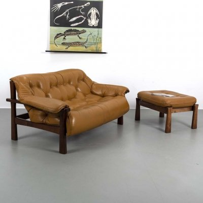Percival Lafer two seater sofa with hocker