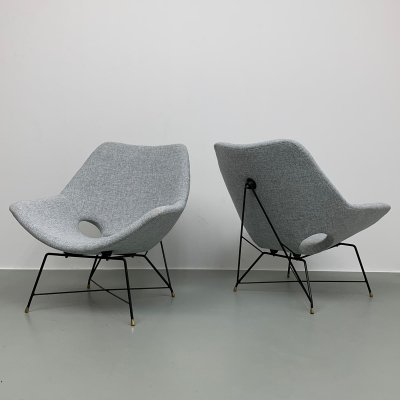 Set of 2 Kosmos lounge chairs by Augusto Bozzi for Saporiti