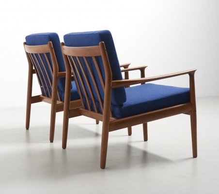 Pair of easy chairs in teak by Grete Jalk for Glostrup, 1960s