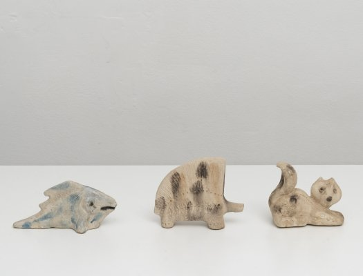 3 Scavo Animals by Aldo Londi for Bitossi, 1960s