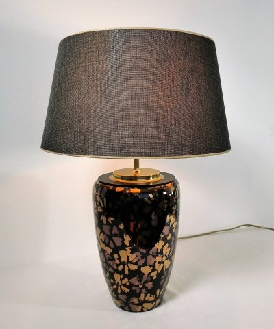 Glamorous Ceramic Table Lamp, 1980's