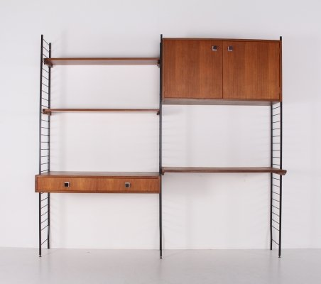 Belgian modernist wall unit by Combineurop