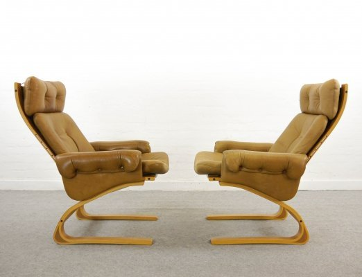 Kengu Highback Chairs by Elsa & Nordahl Solheim for Rykken, Norway