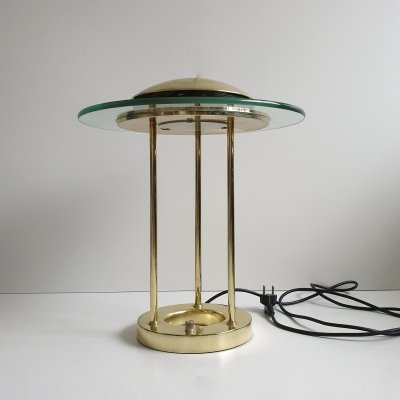 Vintage Brass 'Saturn' desk lamp by R. Sonneman for George Kovacs, c.1980