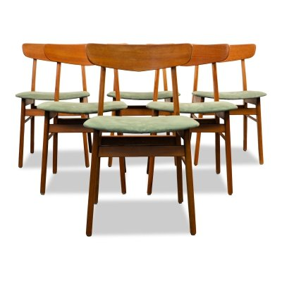 Set of 6 Vintage Danish design Findahls dining chairs, 1960s