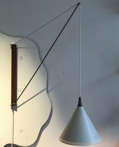 Arc wall lamp by Willem Hagoort