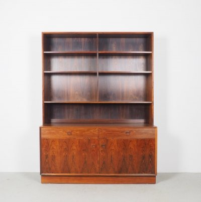 Danish design rosewood bookcase cabinet by Brouer Møbelfabrik, 1960's