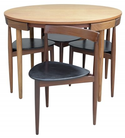 Hans Olsen Dining Table With Four Chairs for Frem Rojle, Denmark 1960's