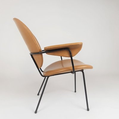 Mid Century Dutch Design '302' lounge chair by W.H. Gispen for Kembo, 1950s