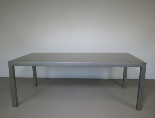 Stainless steel table, 1980s