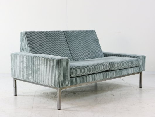Two seater sofa with velvet upholstery, 1970s