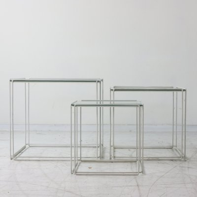 Isocele nesting table by Max Sauze for Atrow, 1980s