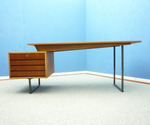 Mid Century Teak Architects Desk, 1950s