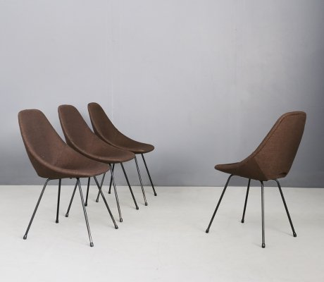 Set of 4 Medea chairs by Vittorio Nobili for Fratelli Tagliabue, Italy 1950s
