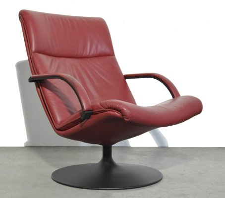 Swivel armchair F196 by Geoffrey Harcourt for Artifort, 1980