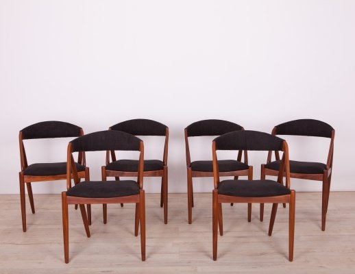 Set of 6 No. 31 Dining Chairs by Kai Kristiansen for Schou Andersen, 1960s