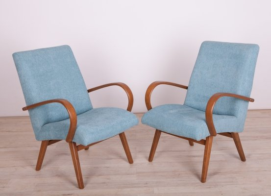 Set of 2 Vintage Model 53 Armchairs by Jaroslav Smidek for Ton, 1960s