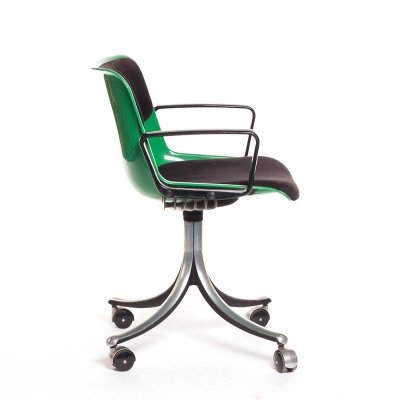 Vintage green modus desk chair by Osvaldo Borsani for Tecno