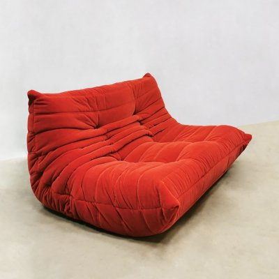 Vintage two seater 'Togo' sofa by Michel Ducaroy for Ligne Roset