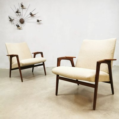 Set of 2 vintage design 'Ruster' ladies chairs by Yngve Ekstrom for Pastoe