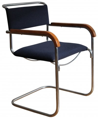 FN 74 Modernist Cantilever Chair by H.J. Hagemann for Mucke-Melder