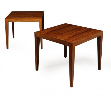 Pair of Mid Century Side Tables by Severin Hansen for Haslev Møbelsnedkeri