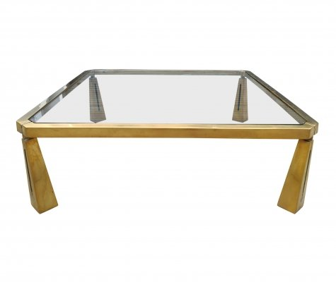 Bronze coffee table by Peter Ghyczy, 1980s