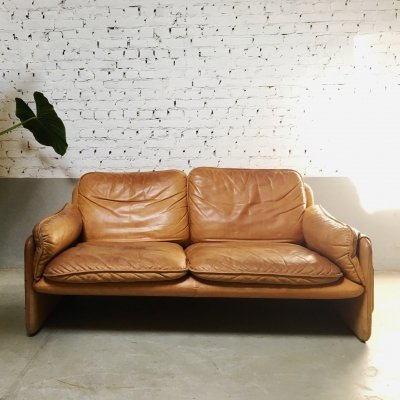 De Sede DS-61 twoseater sofa in cognac leather