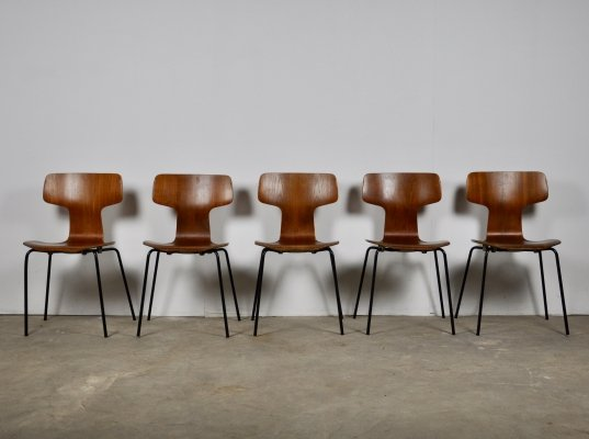 T Chairs or Hammer Chairs by Arne Jacobsen for Fritz Hansen, 1969