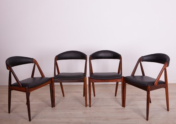 Set of 4 No. 31 Dining Chairs by Kai Kristiansen for Schou Andersen, 1960s