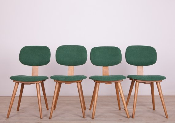 Set of 4 Mid-Century Polish 5827 Dining Chairs from Fameg Radomsko, 1970s