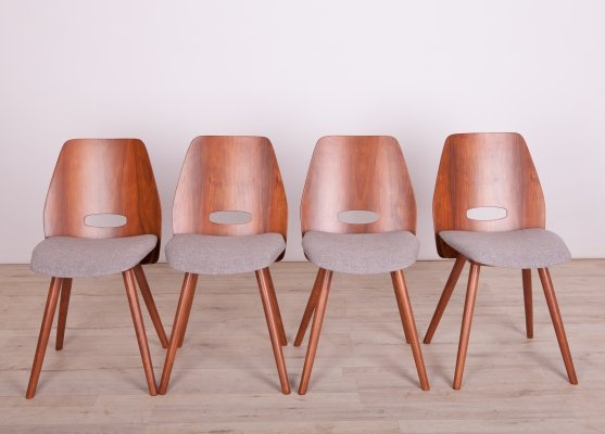 Set of 4 Lollipop Chairs by Frantisek Jirak for Tatra, 1960s