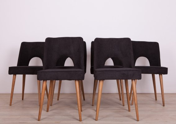 Set of 6 Polish Shell Chairs, 1960s