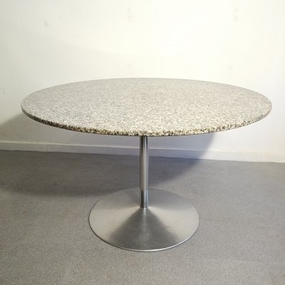 Granite round table by Verner Panton, 1970s