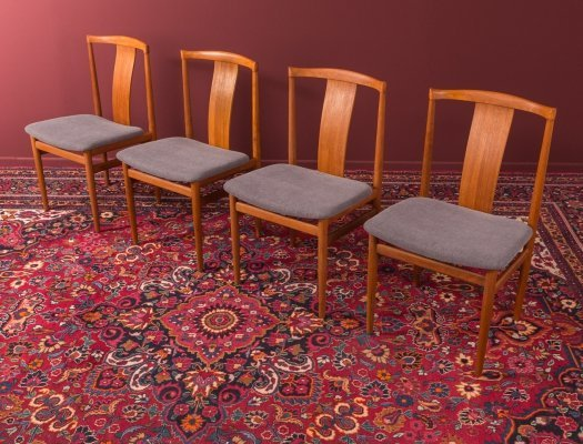 Set of 4 dining chairs by Henning Sørensen, Denmark 1960s