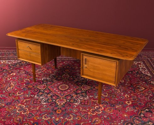 Walnut writing desk, Germany 1950s