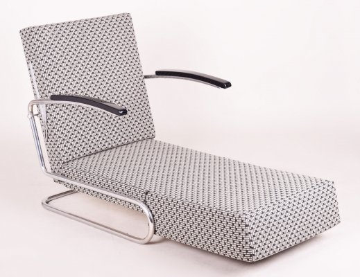 Tubular Chrome Armchair Bed by Mücke Melder, Czechia 1930s