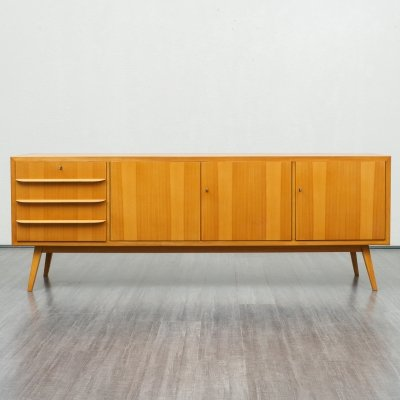 Vintage Large 1950s Sideboard In Ashwood