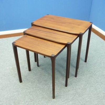 Anthroposophical Teak Nesting Tables by Rex Raab for Wilhelm Renz, 1960s