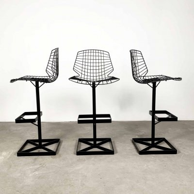 Set of 3 High 'Nice' Chairs by Georges Laurent, 1960s