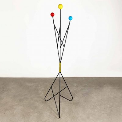 Iron & Wood Coat Stand by Roger Feraud, 1960s